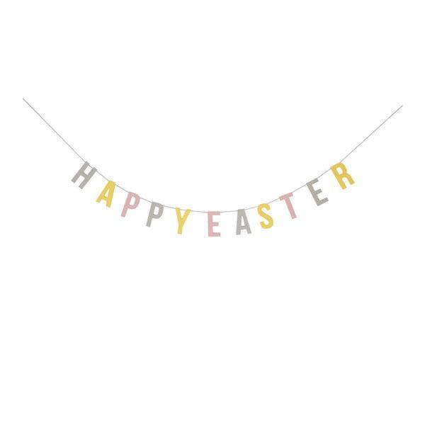 Ghirlandă din hârtie Bloomingville Pastel Easter, lungime 200 cm