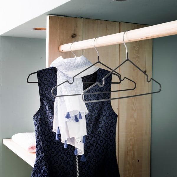 Sada 3 šatních ramínek Compactor Grey Coats