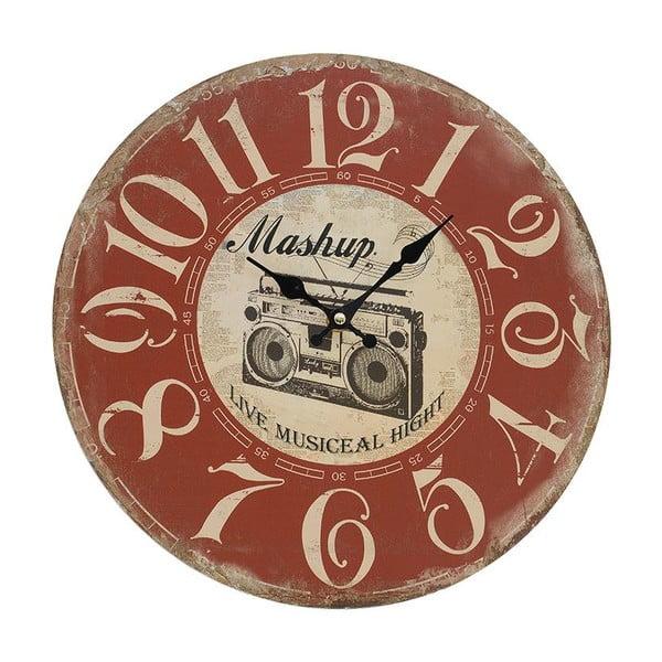 Nástěnné hodiny Red Vintage, 34 cm