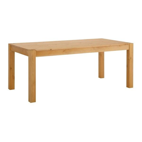 Brązowy stół do jadalni z litego drewna sosnowego Støraa Monique, 75x200cm