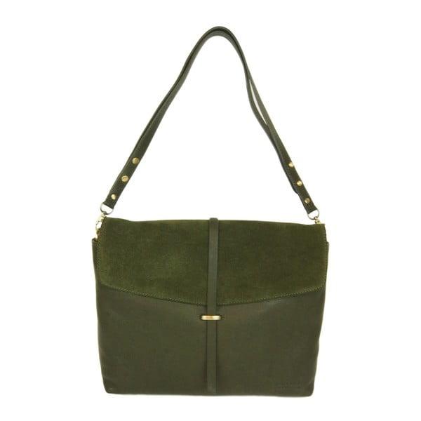 Kožená kabelka Ella, lesní zeleň