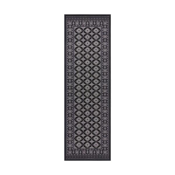 Czarny chodnik Nouristan Sao Buchara, 80x250 cm
