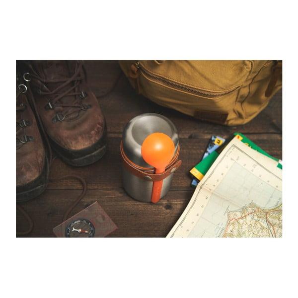 Oranžová nerezová termoska na svačinu Black + Blum Flask, 400 ml