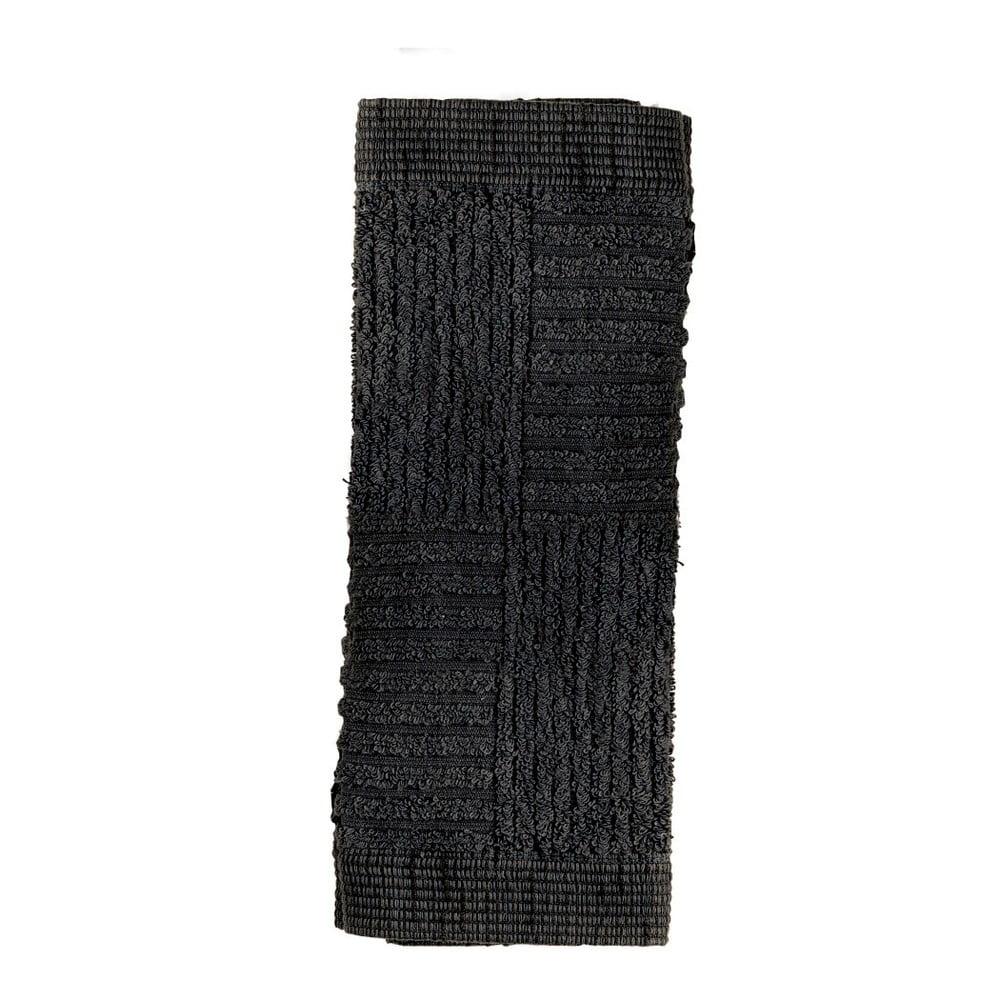 Černý ručník Zone Classic, 30 x 30 cm