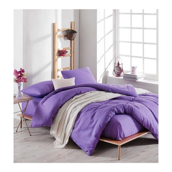 Lenjerie de pat cu cearșaf Violette, 200 x 220 cm, violet