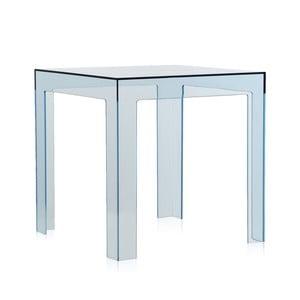 Světle modrý transparentní stolek Kartell Jolly