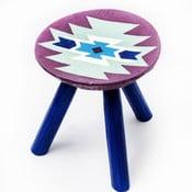 Ručně malovaná stolička Biertan, 28 cm