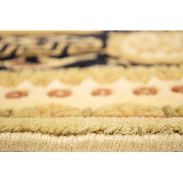 Vlněný koberec Vanilla Black, 70x140 cm