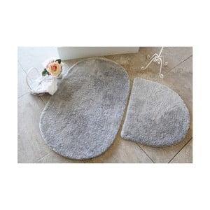 Sada 2 šedých koupelnových předložek Confetti Bathmats Colors of Oval Grey