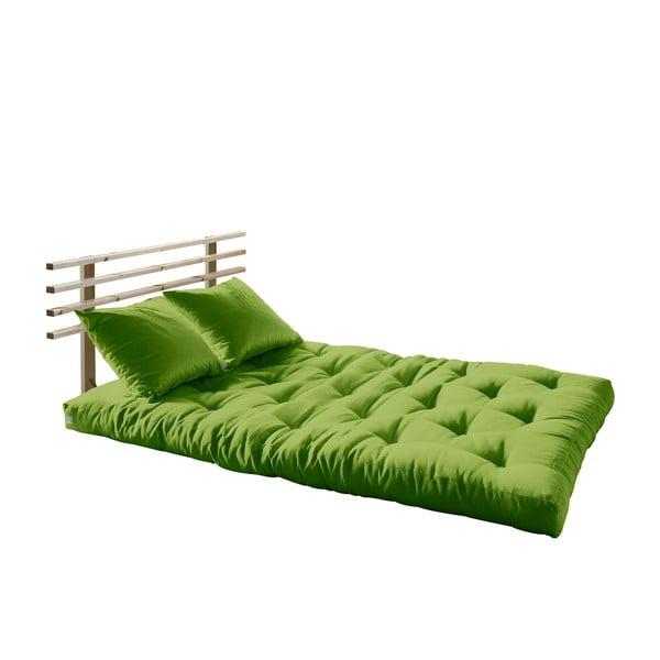 Canapea extensibilă Karup Shin Sano Natur/Lime