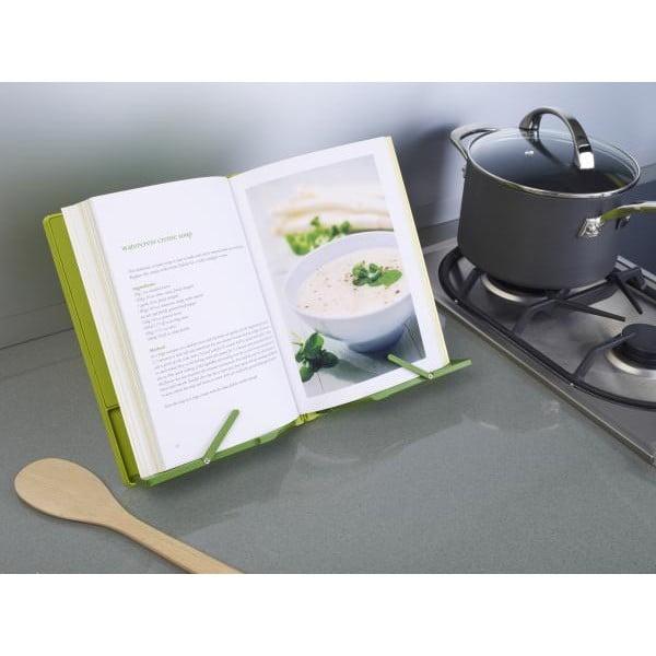Zelený skládací stojánek na kuchařku Joseph Joseph CookBook