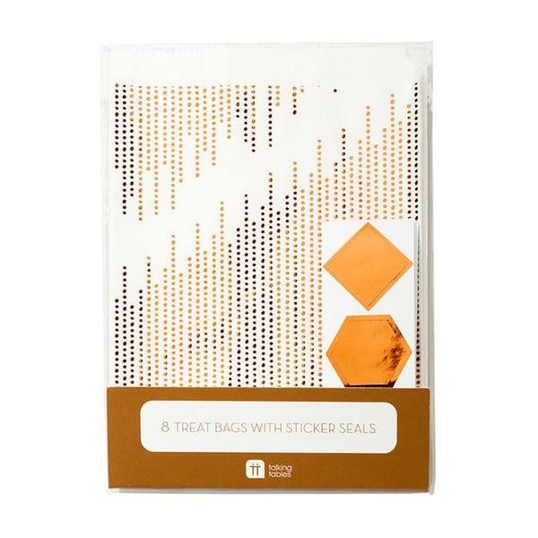 Sada 8 papírových sáčků Talking Tables Treat Copper