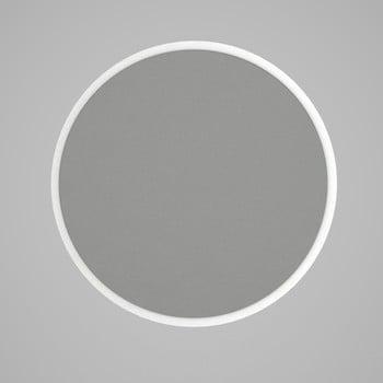 Oglindă rotundă de perete cu rama albă Glob, ⌀ 59 cm imagine