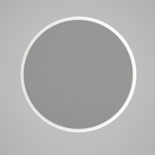 Oglindă rotundă de perete cu rama albă Glob, ⌀ 59 cm