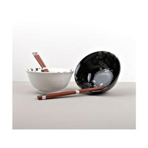 Sada 2 misek s hůlkami Made In Japan Silver Sakura