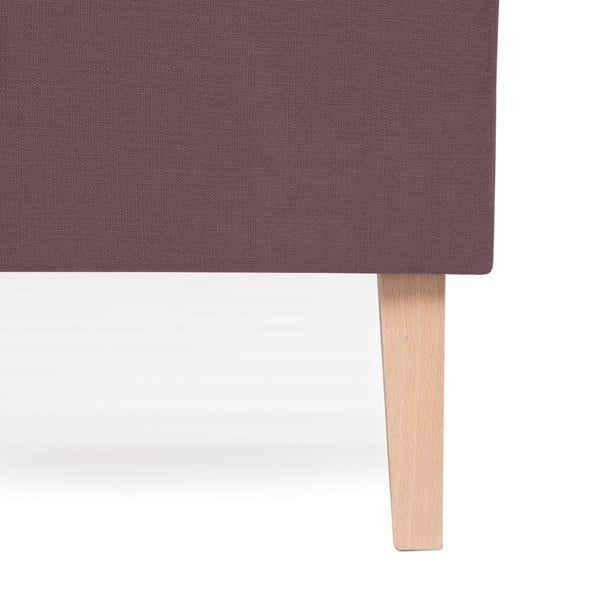 Fialová postel Vivonita Kent Linen, 200x140cm