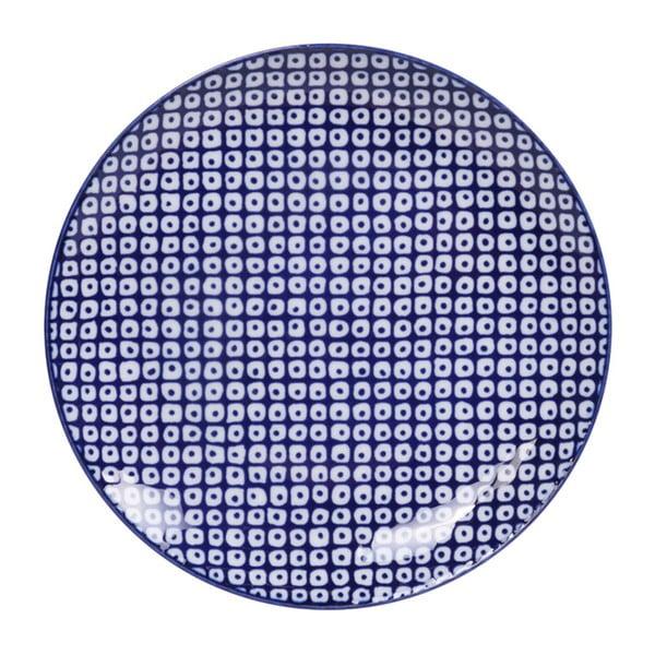 Modrý porcelánový talíř Tokyo Design Studio Raindrop, ø 20,6 cm
