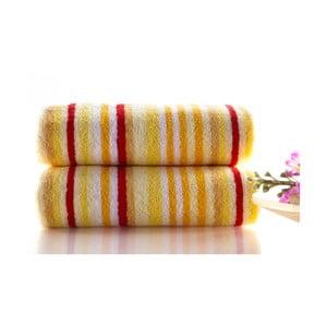 Set dvou ručníků Cizgi 80x40 cm, žlutý