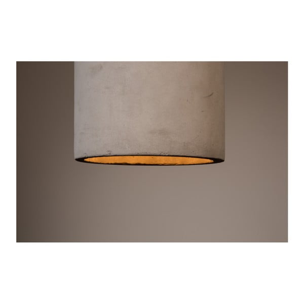 Závěsné svítidlo z betonu Dutchbone Bottle