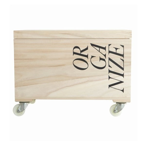 Úložný box na kolečkách Organize, 44x31x23 cm