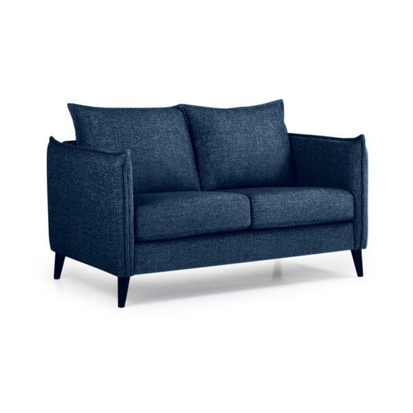 Canapea cu 2 locuri Softnord Leo, albastru închis