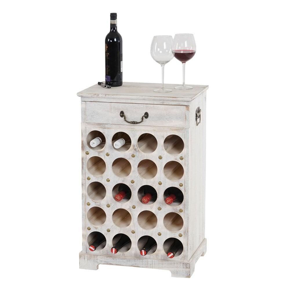 Suport pentru 20 sticle de vin mendler shabby alb bonami for Flaschenregal schmal