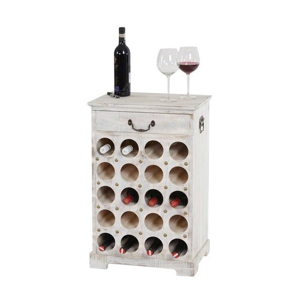 Bílý  stojan na 20 lahví vína Mendler Shabby