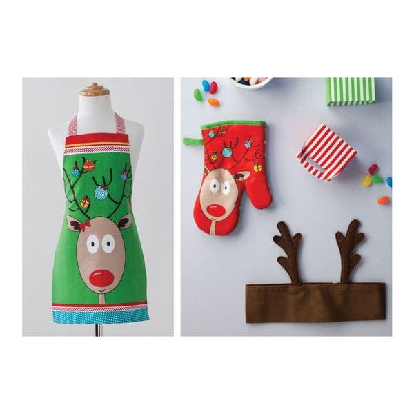 Set zástěra a chňapka Rudolph, 2 ks