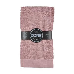Růžový ručník Zone,100x50cm