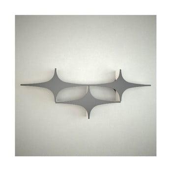 Raft de perete Manuel Triple Star, lățime 90 cm, negru gri de la Unknown