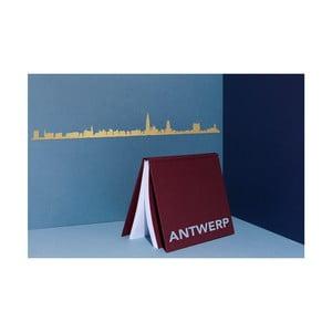 Pozlacená nástěnná dekorace se siluetou města The Line Antwerp