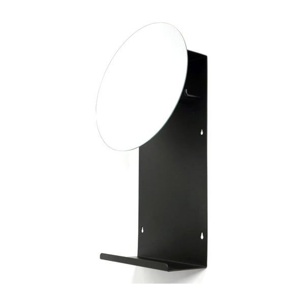 Černé nástěnné zrcadlo Canett Joy