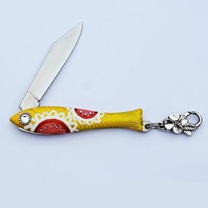 Český nožík rybička, žlutá malovaná
