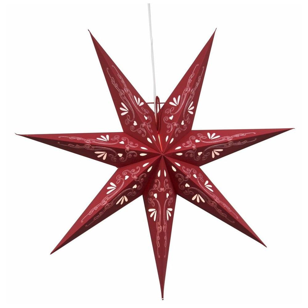 Závěsná svítící hvězda Best Season Metasol Red, 70 cm