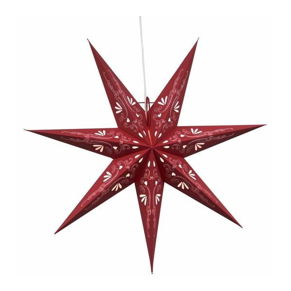 Závesná svietiaca hviezda Best Season Metasol Red, 70 cm