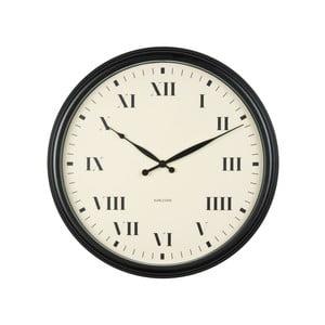Černé hodiny Present Time Old Times, velké