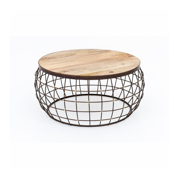 Konferenční stolek s železnou konstrukcí WOOX LIVING Nest, ⌀74cm