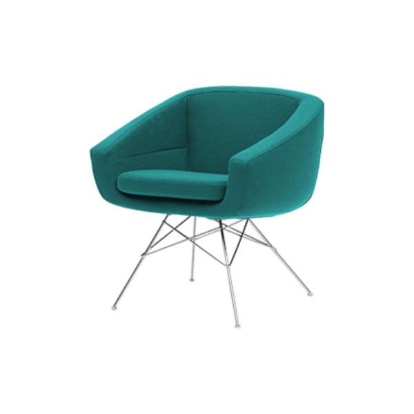 Turkusowy fotel Softline Aiko Eco Cotton Turquoise