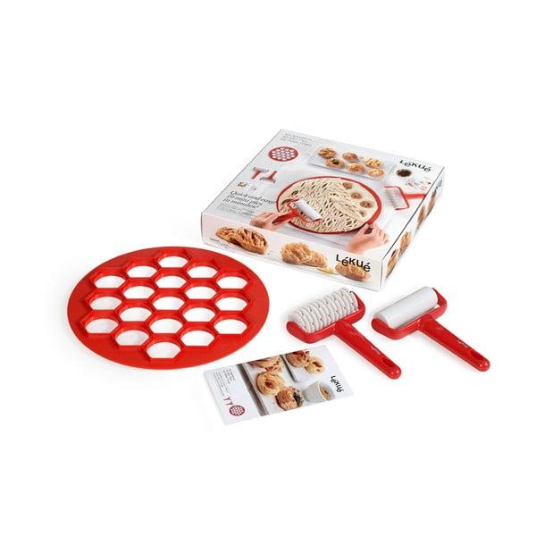 Czerwona forma do wykrawania ciasta Lékué Pies, ⌀ 30 cm