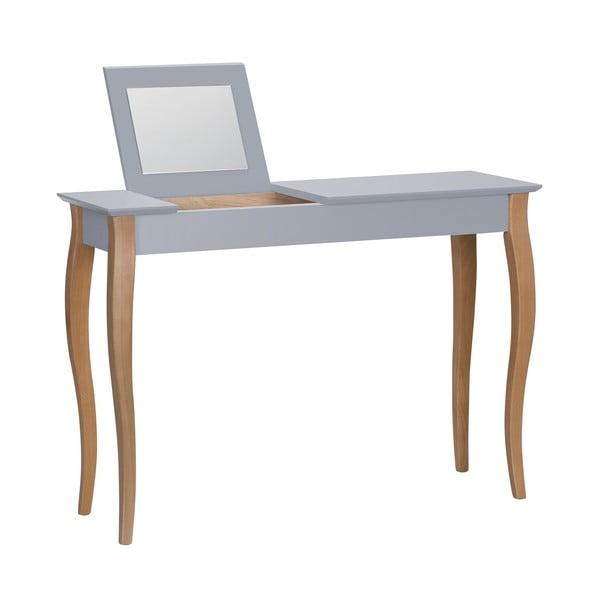 Dressing Table sötétszürke fésülködőasztal tükörrel, hosszúság 105 cm - Ragaba