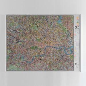 Magnetická mapa Londýna Street map, 130x100cm