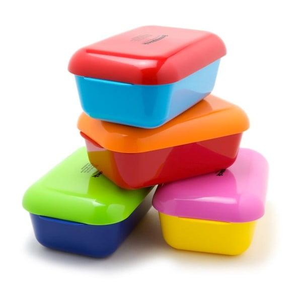 Chladící svačinový box Frozzypack Joyful Edition, turquoise/red