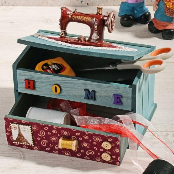 Dřevěný box na šití Woodes