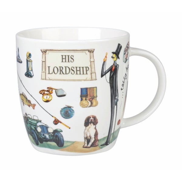 Sada 2 hrnků z porcelánu Churchill China Ladyship and Lordship, 400 ml