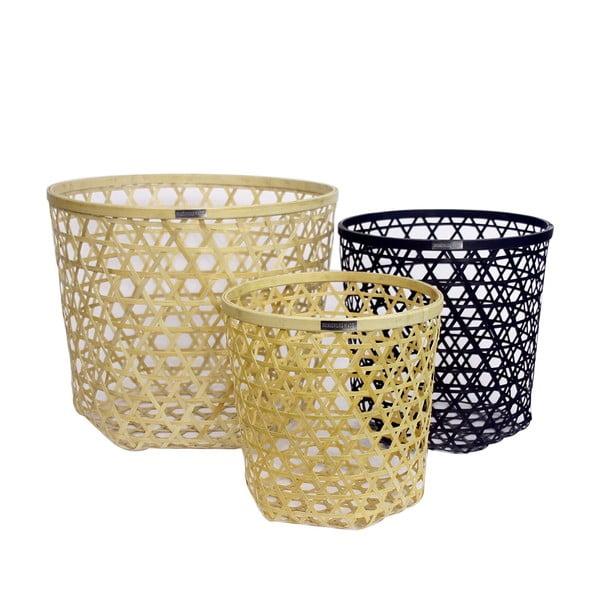 Sada 3 bambusových košíků Natural