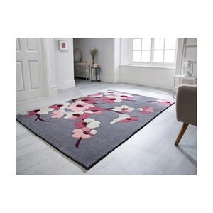 Koberec Flair Rugs Blossom Charcoal Pink, 160 x 230 cm