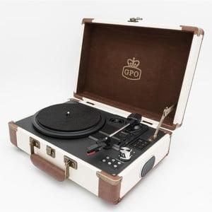 Běžovo-hnědý gramofon GPO Ambassador