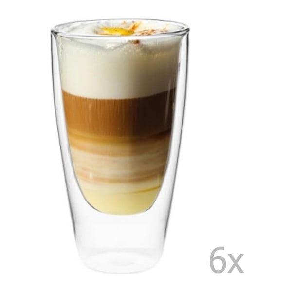 Sada 6 dvojitých sklenic Vialli Design NATALIE, 350 ml