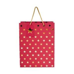 Pungă de cadou Butlers Christmas Star, înălțime 13,5 cm