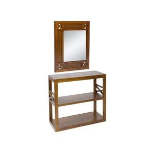 Zrcadlo s konzolovým stolkem z akáciového dřeva SantiagoPons Madera